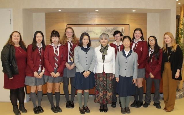 ビショップストローン高校の生徒による総領事館訪問   在トロント日本 ...